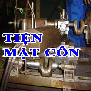 Phương pháp gia công Tiện bề mặt côn - Gia công mặt côn trên máy tiện vạn năng